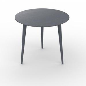 Table basse - Anthracite, ronde, design scandinave, petite table pour salon élégante - 50 x 44 x 50 cm, personnalisable