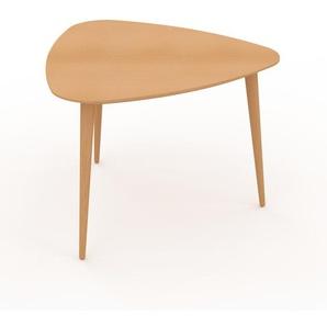 Table basse - Hêtre, triangulaire, design scandinave, petite table pour salon élégante - 59 x 44 x 61 cm, personnalisable