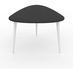 Table basse - anthracite, triangulaire, design scandinave, petite table pour salon élégante - 59 x 44 x 61 cm, personnalisable