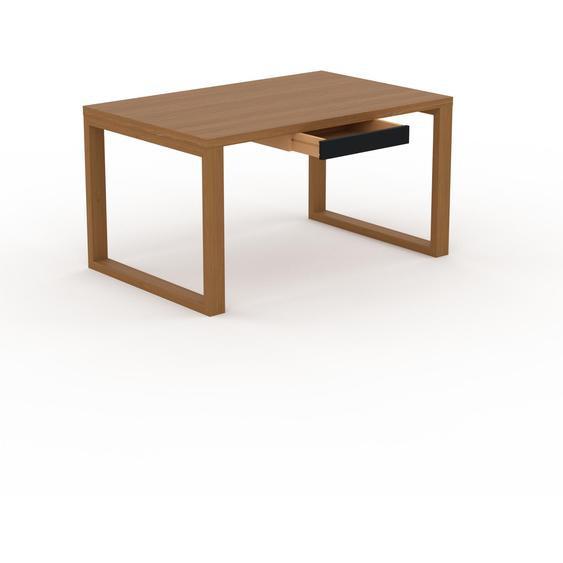 Table - Chêne, contemporaine, haute qualité, avec tiroir Noir - 140 x 75 x 90 cm, personnalisable