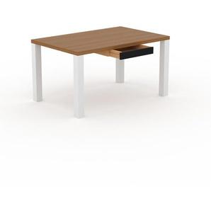 Table en chêne, bois massif, design contemporain, table en bois élégante - 140 x 76 x 90 cm, personnalisable