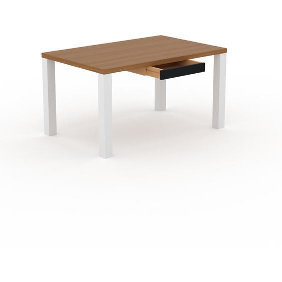 Table - Chêne, contemporaine, haute qualité, avec tiroir Noir - 140 x 76 x 90 cm, personnalisable