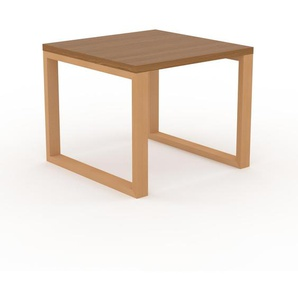 Table - Chêne, design, plateau de table raffiné - 90 x 75 x 90 cm, personnalisable