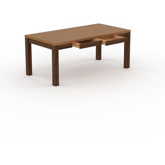 Table - Chêne, moderne, avec tiroir Noyer et cadre Noyer - 180 x 76 x 90 cm, personnalisable