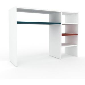 Table console - Blanc, design, pour chambre ou entrée élégante - 116 x 80 x 35 cm, personnalisable