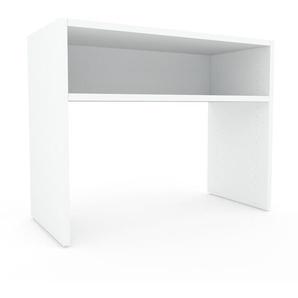 Table console - Blanc, design, pour chambre ou entrée élégante - 77 x 61 x 35 cm, personnalisable