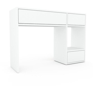 Table console - blanc, moderne, raffinée, avec tiroir blanc - 116 x 80 x 35 cm, personnalisable