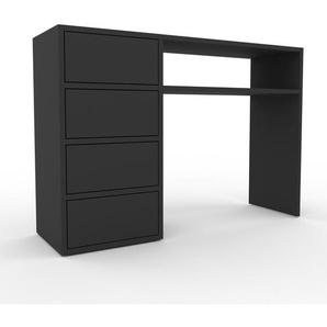 Table console - anthracite, moderne, raffinée, avec tiroir anthracite - 116 x 80 x 35 cm, personnalisable
