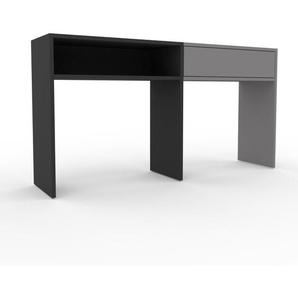 Table console - Anthracite, moderne, raffinée, avec tiroir Gris - 152 x 80 x 35 cm, personnalisable