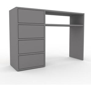 Table console - gris, moderne, raffinée, avec tiroir gris - 116 x 80 x 35 cm, personnalisable