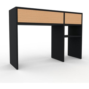 Table console - noir, moderne, raffinée, avec tiroir hêtre - 116 x 80 x 35 cm, personnalisable