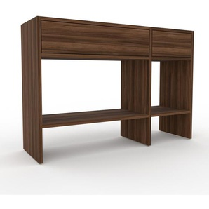 Table console - Noyer, moderne, raffinée, avec tiroir Noyer - 116 x 80 x 35 cm, personnalisable