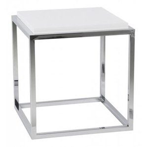 Table dappoint ou chevet avec tablette - Ontario - Blanc