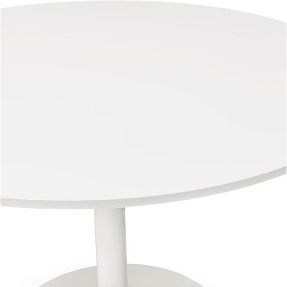 Table de bureau/à diner ronde ORLANDO blanche - Ø 120 cm