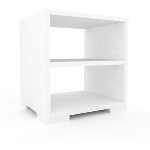 Table de chevet - Blanc, design minimaliste, table de nuit élégante - 41 x 43 x 35 cm, personnalisable