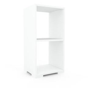 Table de chevet - Blanc, design minimaliste, table de nuit élégante - 41 x 81 x 35 cm, personnalisable
