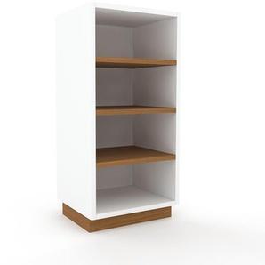Table de chevet - Blanc, design minimaliste, table de nuit élégante - 41 x 85 x 35 cm, personnalisable