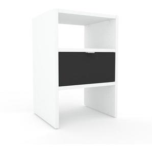 Table de chevet - Anthracite, contemporaine, table de nuit, avec tiroir Anthracite - 41 x 61 x 35 cm, modulable
