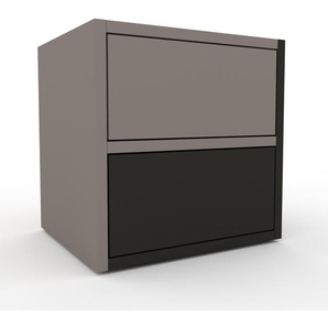 Table de chevet - Gris, contemporaine, table de nuit, avec tiroir Anthracite - 41 x 41 x 35 cm, modulable
