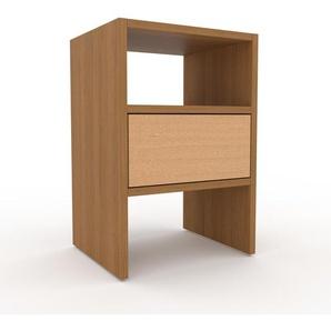Table de chevet - Chêne, contemporaine, table de nuit, avec tiroir Hêtre - 41 x 61 x 35 cm, modulable