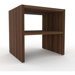 Table de chevet - Noyer, design minimaliste, table de nuit élégante - 41 x 41 x 35 cm, personnalisable