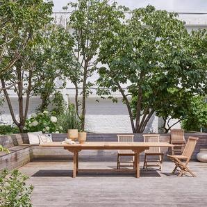 Table de jardin rectangulaire en bois de teck 200 Capri