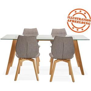 Table de salle à manger design SALTO en verre - 180x90 cm
