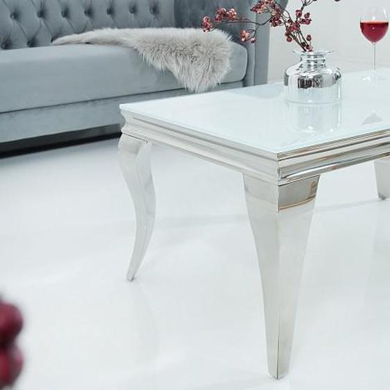 Table de salon baroque blanche design - Zita