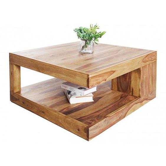 Table de salon carrée bois de palissandre - Noa - 80 x 80 cm