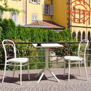 Table de terrasse pliable FOLY carrée blanche - 60x60 cm