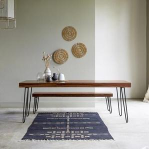 Table en bois de palissandre 210x75 Helga