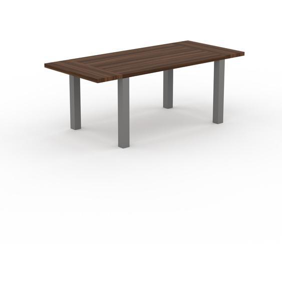 Table extensible - Noyer,, plateau de table élégant, avec deux rallonges - 200 x 76 x 90 cm, modulable