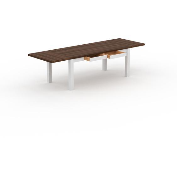 Table extensible - Noyer,, plateau de table élégant, avec deux rallonges - 280 x 76 x 90 cm, modulable