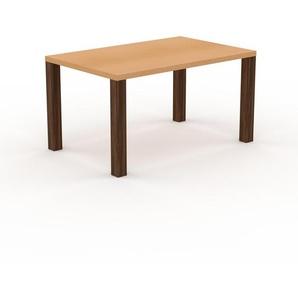 Table en hêtre, bois massif, design contemporain, table en bois élégante - 140 x 76 x 90 cm, personnalisable