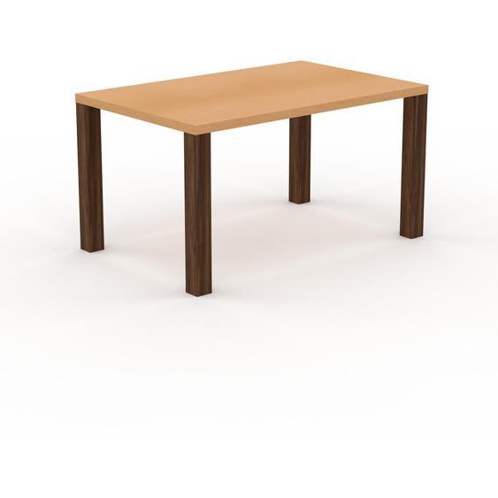 Table - Hêtre, design, plateau de table raffiné - 140 x 76 x 90 cm, personnalisable