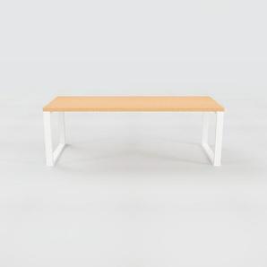 Table en hêtre, bois massif, design contemporain, table en bois élégante - 220 x 75 x 90 cm, personnalisable