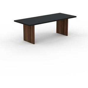 Table - Noir, design, plateau de table raffiné - 220 x 75 x 90 cm, personnalisable