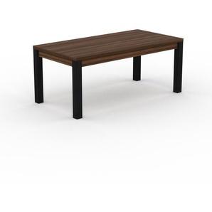 Table - Noyer, contemporaine, de qualité, avec cadre Noyer - 180 x 76 x 90 cm, personnalisable