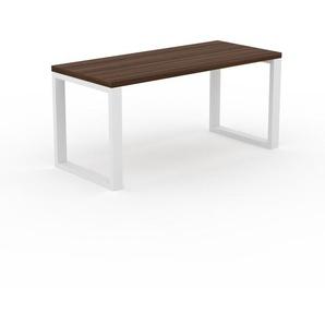 Table - Noyer, design, plateau de table raffiné - 160 x 75 x 70 cm, personnalisable