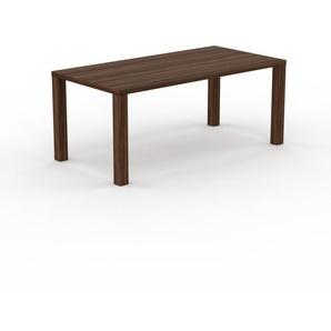Table - Noyer, design, plateau de table raffiné - 180 x 76 x 90 cm, personnalisable