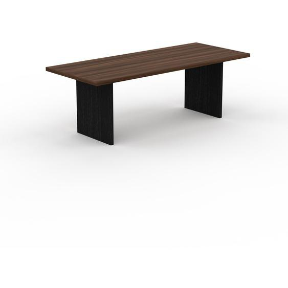 Table - Noyer, design, plateau de table raffiné - 220 x 75 x 90 cm, personnalisable
