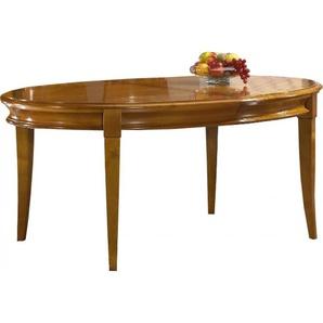 Table ovale chêne L160 pieds sabre 2 allonges