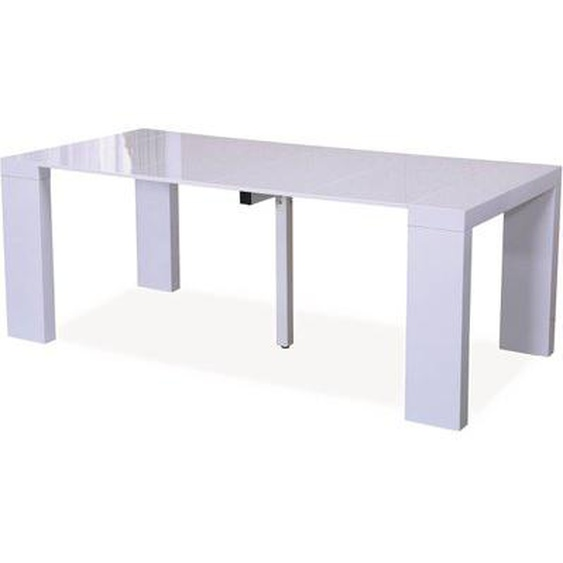 Table repas extensible Dina - 200/40 x 94 x 75 cm - Blanc laqué