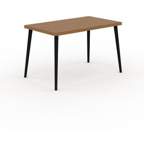 Table en chêne, bois massif, design contemporain, table en bois élégante - 120 x 75 x 70 cm, personnalisable