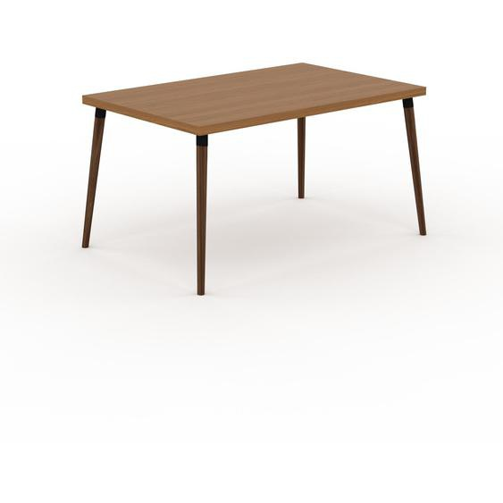 Table scandinave - Chêne, style nordique, plateau de table épuré - 140 x 75 x 90 cm, personnalisable
