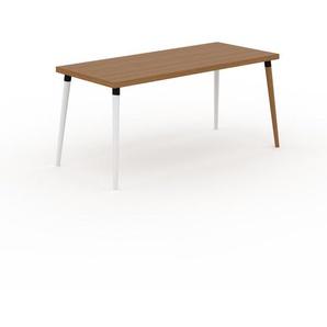 Table en chêne, bois massif, design contemporain, table en bois élégante - 160 x 75 x 70 cm, personnalisable