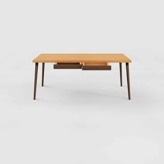 Table scandinave - Chêne, style nordique, plateau de table épuré - 180 x 75 x 90 cm, personnalisable