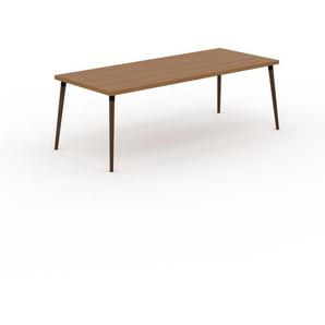 Table en chêne, bois massif, design contemporain, table en bois élégante - 220 x 75 x 90 cm, personnalisable
