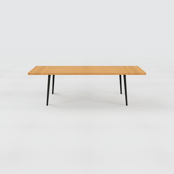Table scandinave - Chêne, style nordique, plateau de table épuré - 260 x 75 x 90 cm, personnalisable