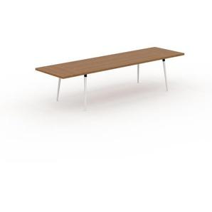 Table en chêne, bois massif, design contemporain, table en bois élégante - 320 x 75 x 90 cm, personnalisable
